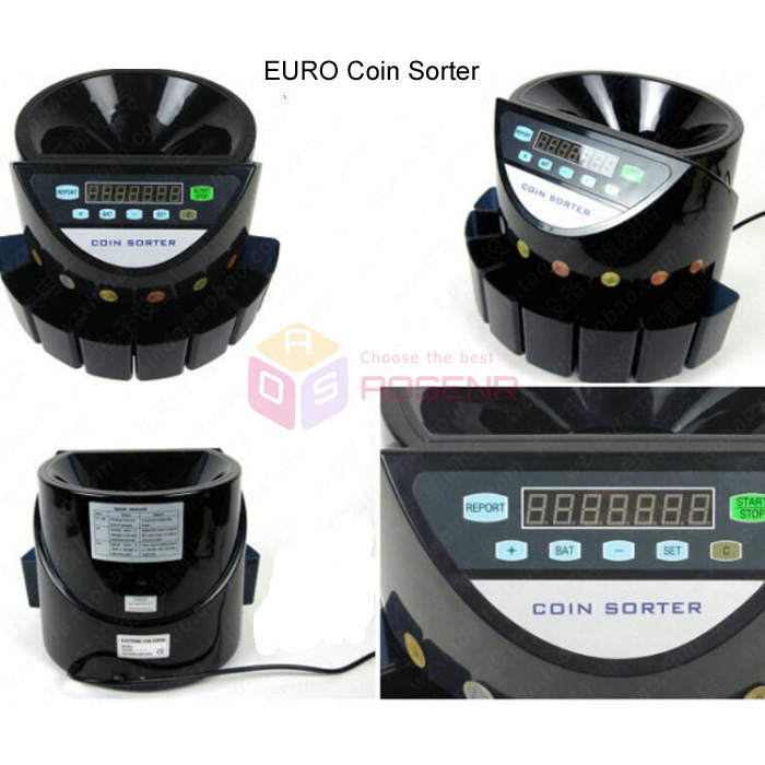 coin sorter and wrapper machine