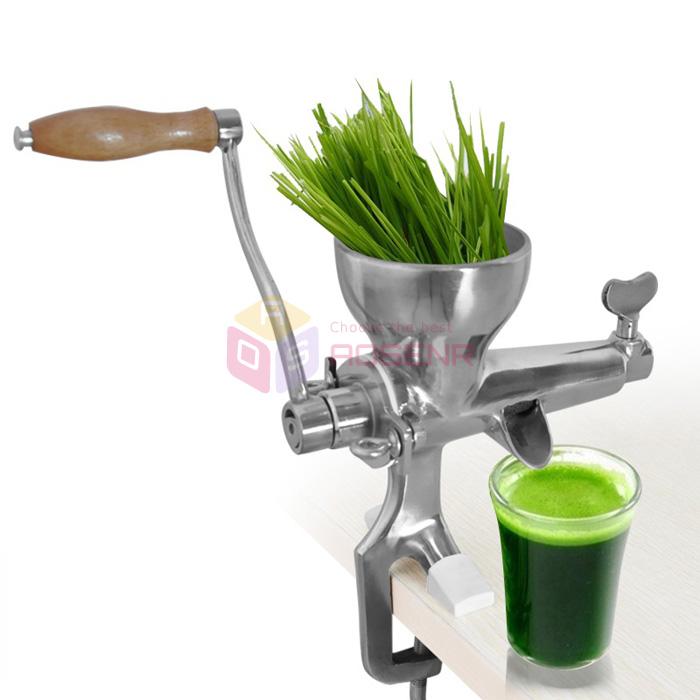 Manivelle blé Herbe Feuilles Légumes Acier Inoxydable Manuel Extracteur